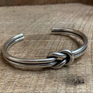 James Avery Sterling Silver Knot Cuff Bracelet